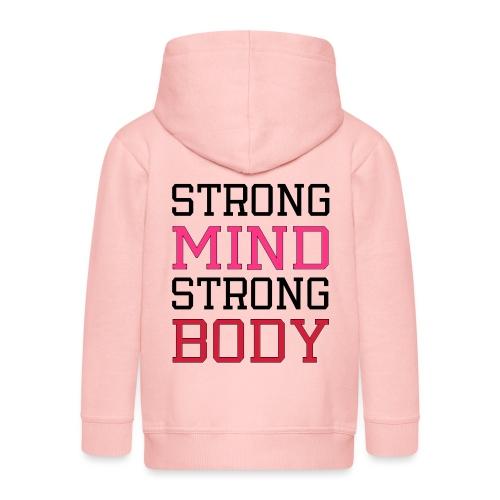 strong mind strong body - Premium hættejakke til børn