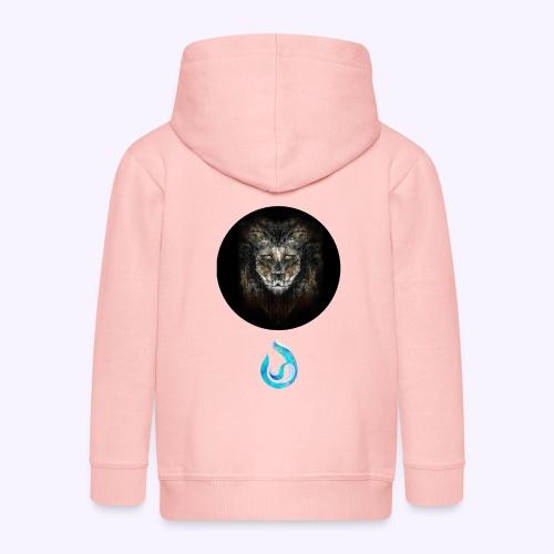 lion - Felpa con zip Premium per bambini