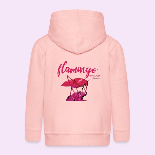Wannabe Flamingo Sprinkhaan HOT PINK BABY - Kinderen Premium jas met capuchon