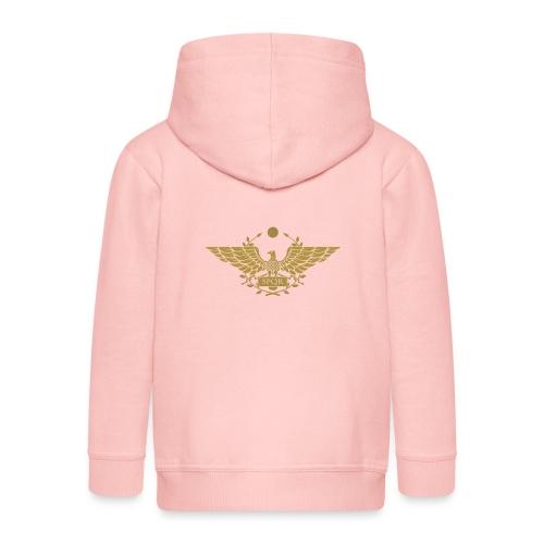 Orzeł SPQR | Eagle of SPQR - Rozpinana bluza dziecięca z kapturem Premium
