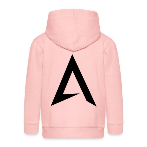 alpharock A logo - Kids' Premium Hooded Jacket