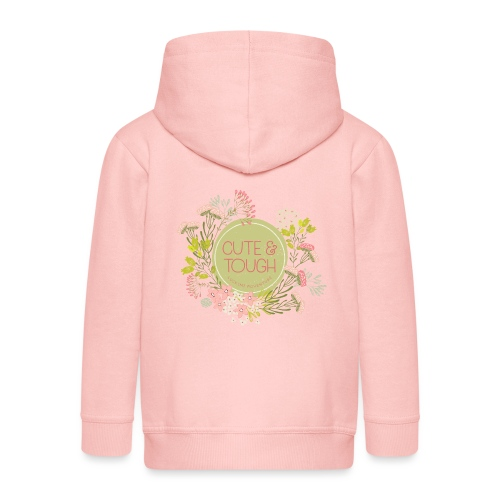 Cute and tough - green - Kids' Premium Zip Hoodie