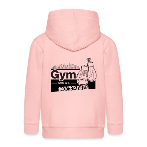 Gym in Druckfarbe schwarz - Kinder Premium Kapuzenjacke