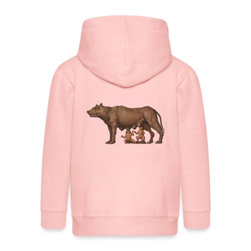 Wilczyca kapitolińska | Capitoline Wol - Rozpinana bluza dziecięca z kapturem Premium