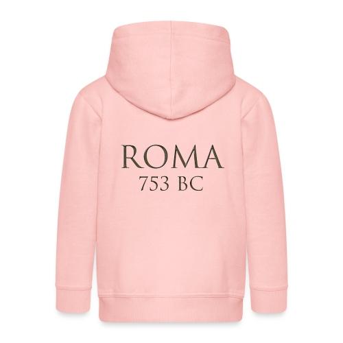 Nadruk Roma (Rzym) | Print Roma (Rome) - Rozpinana bluza dziecięca z kapturem Premium