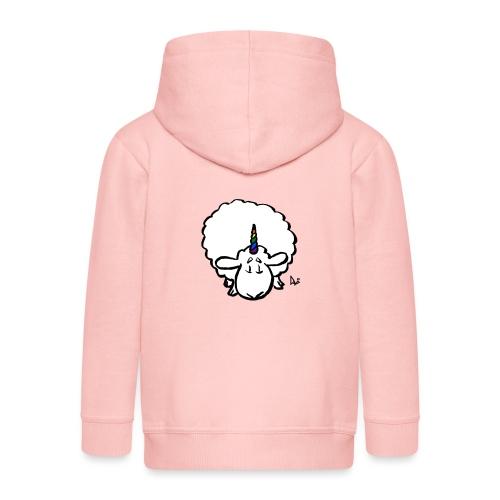 Ewenicorn: ¡es una oveja unicornio arcoiris! - Chaqueta con capucha premium niño