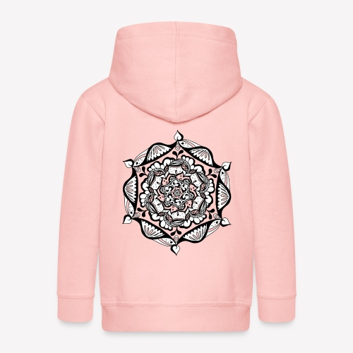Mandala Flower - Kinder Premium Kapuzenjacke