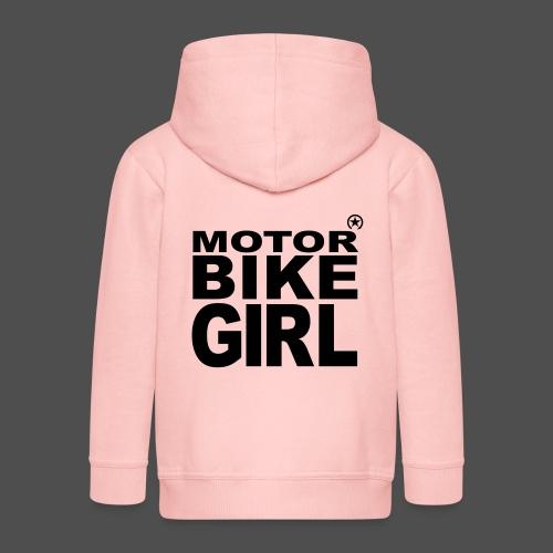Motorbike Girl - Kids' Premium Zip Hoodie