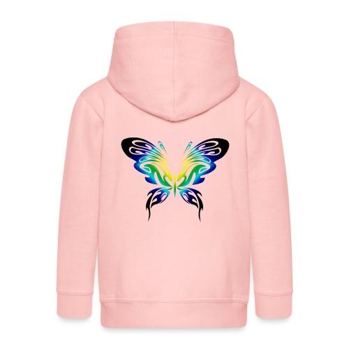 Motyl kolor - Rozpinana bluza dziecięca z kapturem Premium