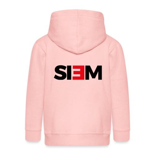 siem_zwart - Kinderen Premium jas met capuchon