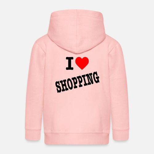 I Love Shopping (Ik Hou van Winkelen) - Kinderen Premium jas met capuchon
