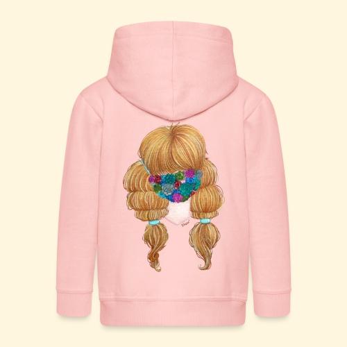 Fille masquée aux succulentes - Veste à capuche Premium Enfant