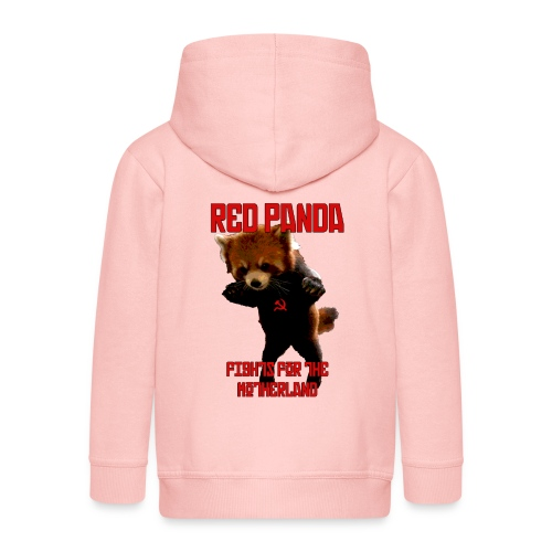 Red Panda Fights For The Motherland - Kids' Premium Hooded Jacket