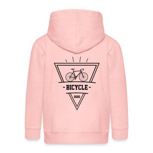 bicycle black - Rozpinana bluza dziecięca z kapturem Premium