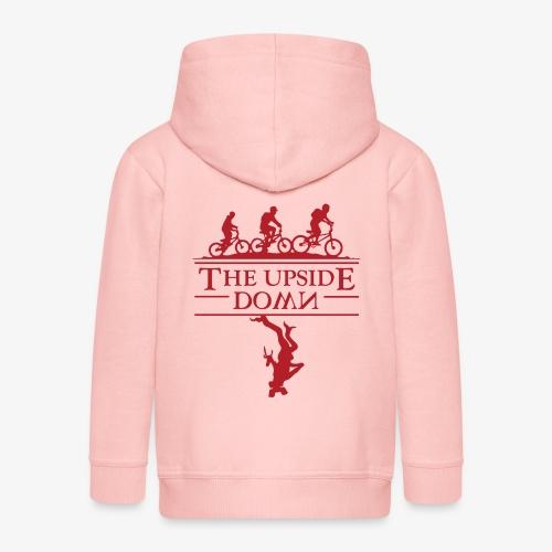 upside down - Rozpinana bluza dziecięca z kapturem Premium