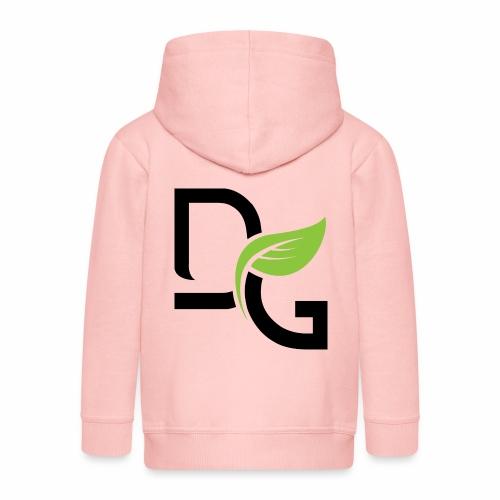 DrGreen Logo Symbol schwarz grün - Kinder Premium Kapuzenjacke