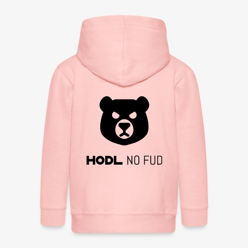 HODL-bearnofud-b - Kids' Premium Zip Hoodie