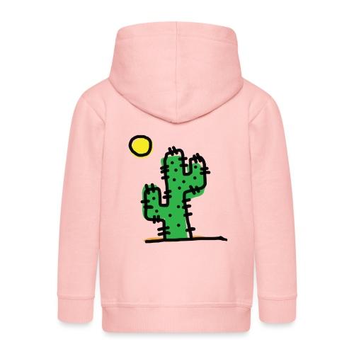 Cactus single - Felpa con zip Premium per bambini
