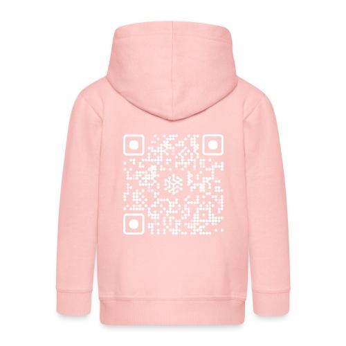 QR Safenetforum White - Kids' Premium Zip Hoodie