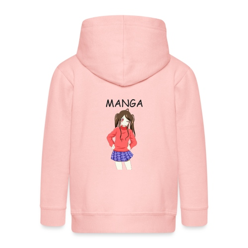 Anime girl 02 Text Manga - Kinder Premium Kapuzenjacke