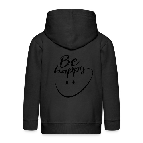 Be Happy With Hand Drawn Smile - Kids' Premium Zip Hoodie