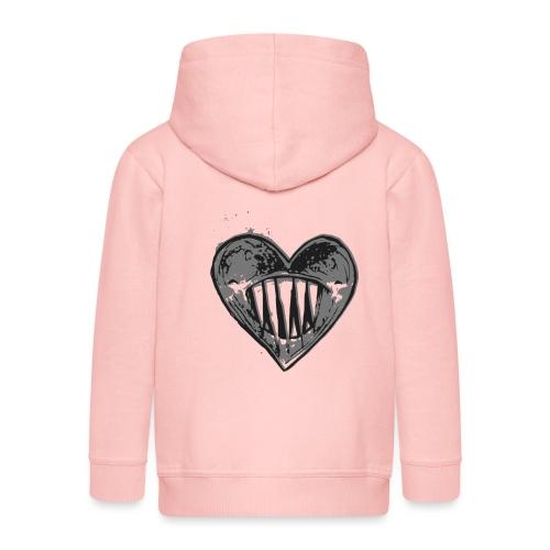 Corazón Negro - Chaqueta con capucha premium niño