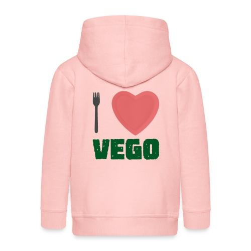 I love Vego - Clothes for vegetarians - Kids' Premium Hooded Jacket