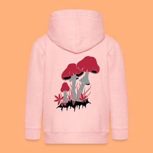 champignons - Veste à capuche Premium Enfant