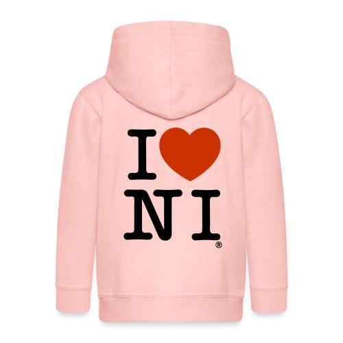 I heart NI - Kids' Premium Zip Hoodie