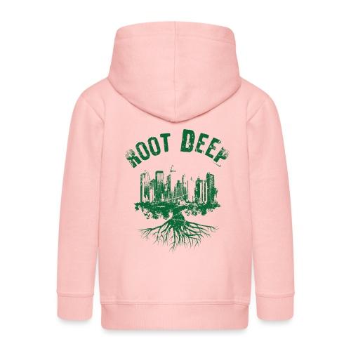 Root deep Urban grün - Kinder Premium Kapuzenjacke