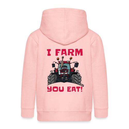 I farm you eat case - Kinderen Premium jas met capuchon