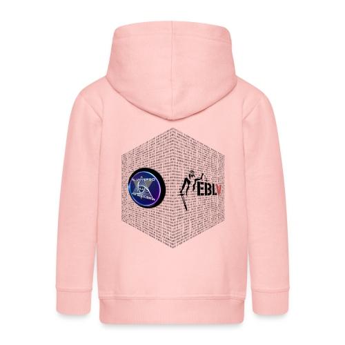 disen o dos canales cubo binario logos delante - Kids' Premium Hooded Jacket