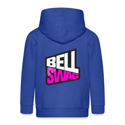 Bellswag logo transparent large - Kids' Premium Zip Hoodie