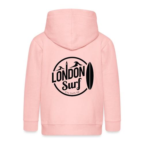 London Surf - Black - Kids' Premium Zip Hoodie