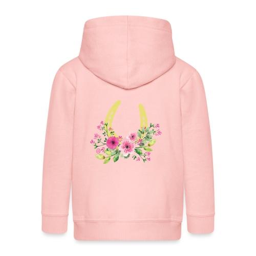 Blumen Hufeisen - Reitbekleidung - Kinder Premium Kapuzenjacke