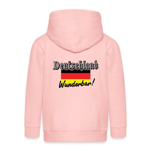 Deutschland Wunderbar German Flag - Kids' Premium Zip Hoodie
