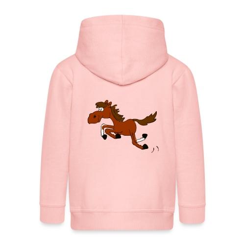 Springpferd - Kinder Premium Kapuzenjacke