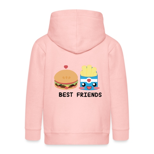 hamburger - Felpa con zip Premium per bambini