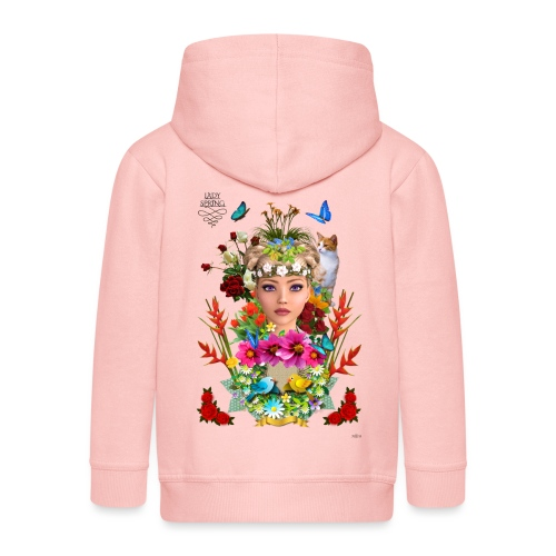 Lady spring -by- t-shirt chic et choc - Veste à capuche Premium Enfant