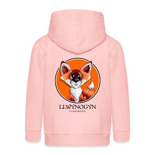 llwynogyn - a little red fox (black) - Kinder Premium Kapuzenjacke