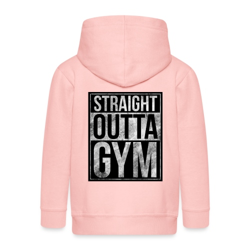Fitness design - Straight Outta Gym - Kids' Premium Hooded Jacket
