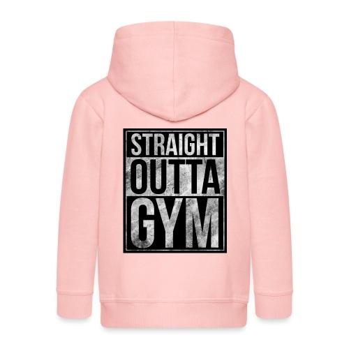 Fitness design - Straight Outta Gym - Kids' Premium Zip Hoodie