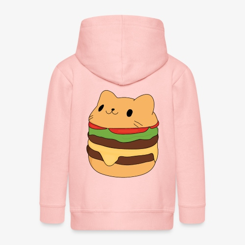cat burger - Kids' Premium Zip Hoodie