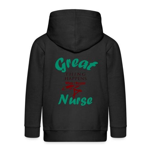Great Nurse-Gift - Veste à capuche Premium Enfant
