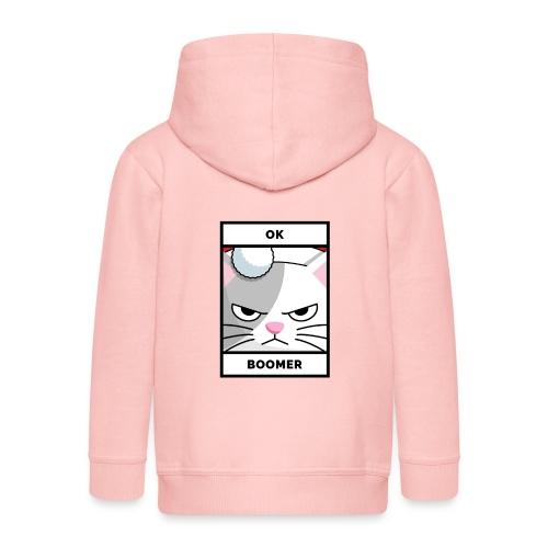 OK BOOMER mit bößer Weihnachts-Katze. - Kinder Premium Kapuzenjacke