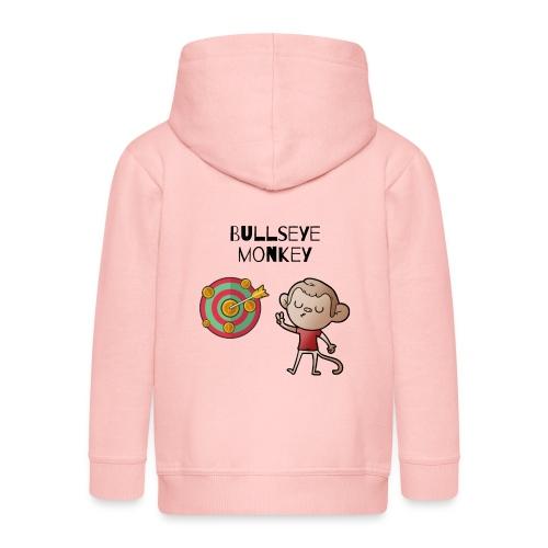 Bullseye monkey - freches Äffchen am Dartboard - Kinder Premium Kapuzenjacke