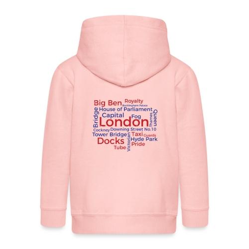 London Word Cloud - London Souvenir Schlagworte - Kinder Premium Kapuzenjacke