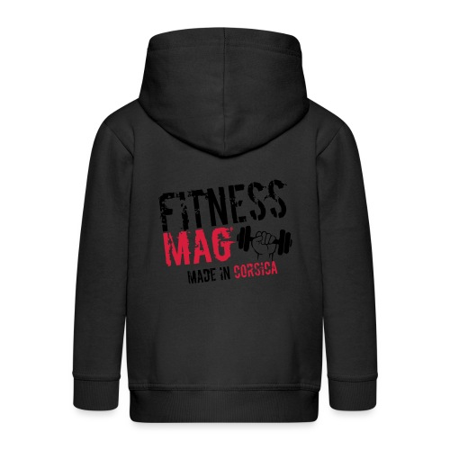 Fitness Mag made in corsica 100% Polyester - Veste à capuche Premium Enfant