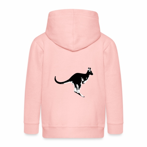 Känguru in schwarz weiss - Kinder Premium Kapuzenjacke