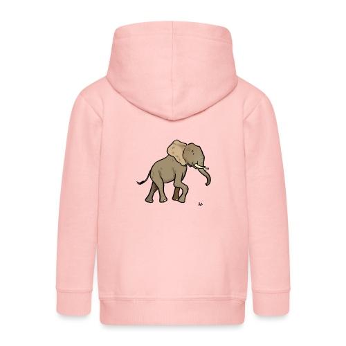Słoń afrykański - Rozpinana bluza dziecięca z kapturem Premium